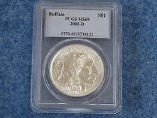 2001-D Buffalo Silver Dollar PCGS MS69 Gem BU B7723