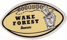 """WAKE FOREST """"deacons """" ncaa COLLEGE  football  SHAPED"""" 1950s decal/STICKER/ rare"""