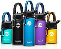 WaterFit Vacuum Insulated Water Bottle - Double Wall Stainless Steel Leak Proof