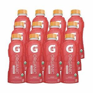 Strawberry, Gatorade Sports Drink, USDA Certified Organic, 16.9 Fl Oz.- 12 pack