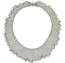 RARE Christian TSE Platinum Pt850 Handmade Woven Chain Mail Mesh Bead Necklace