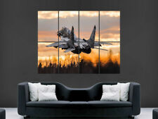 MIG 29 FIGHTER JET POSTER ARMY RUSSIAN AIRFORCE AEROPLANE WAKE
