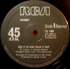 """Odyssey Use It Up And Wear It Out 12"""" UK 1980 RCA Don't Tell Me Tell Her VINYL"""