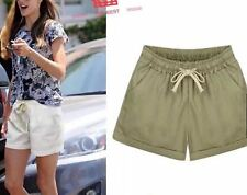 LADIES SHORT WITH STRING & POCKET #101 (LH) Khaki