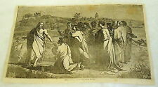 1832 magazine engraving ~ CHRIST HANDING THE KEYS TO ST. PETER
