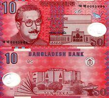 BANGLADESH 10 Taka Banknote World Paper Money UNC Currency Pick p35 Yr 2000 Bill
