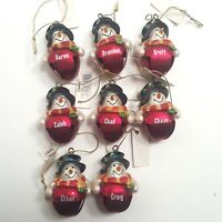 Ganz Mens Personalized Christmas Ornament Jingle Bell Snowman Choose One Name