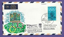 Flugpost-BRD-Lufthansa Flug-Berlin--Frankfurt--Mexico-