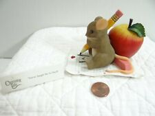 Charming Tails You've Taught Me So Much Mouse Figurine Apple Pencil 89/151 Boxed