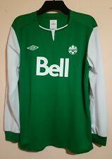 CANADA NATIONAL FOOTBALL TEAM GREEN TRAINING SHIRT UMBRO BELL SIZE M VGC HIBS CA