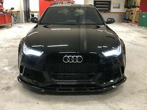 Front Bumper Lip / Apron / Blade / Splitter / Spoiler for Audi RS6 4G C7