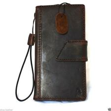 genuine vintage leather Case for sony Xperia Z3 book wallet cover luxury magnet