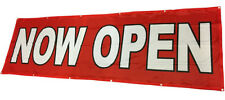 3x10 ft Now Open Banner Sign Vinyl Alternative Store Sale - Fabric rb