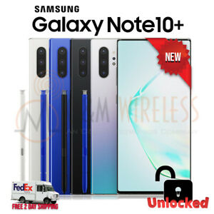 NEW Samsung Galaxy NOTE 10+ Plus 256/512GB (SM-N975U1, Factory Unlocked)⚫⚪🔵🟣SW