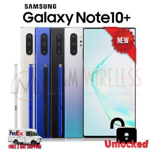 NEW Samsung Galaxy NOTE 10+ Plus 256/512GB (SM-N975U1, Factory Unlocked)���⚪🔵🟣SW