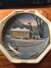 "Franklin Mint Heirloom Recommendation ""Winter School Days"" Plate !"