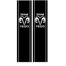 X2 1500 Truck Bed Side Stripes Dodge Ram Decals Sticker *RAM 1500*