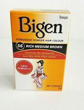Bigen Permanent Powder Hair Colour Dye No Ammonia 6g Rich Medium Brown