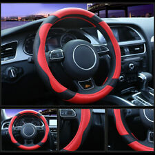 38cm Universal Steering Wheel Cover For Auto Car Anti-slip Grip Accessories Red