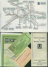 Berlín viejo tren u documentos red plan boleto hoja de ruta 1914-1961 tren elevado RP