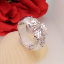 1295.Traumhaft schöner Zirkonia Brillant Silberring 925 Silber RG 56 (17,8 mm Ø)