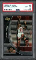 1998-99 Upper Deck Ionix #4 Michael Jordan Chicago Bulls HOF PSA 10 GEM MINT