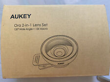 Aukey 2-in-1 Ora Clip On Cellphone Lens Set 120 Degree Wide Angle + 15X Macro