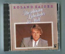 Roland Kaiser cd DIE SCHÖNSTEN LIEBESLIEDER DER WELT © 1985 JAPAN slightly used