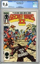 Secret Wars ll  #1  CGC  9.6  NM+  White pgs  7/85  #1 in a  9 issue limited ser