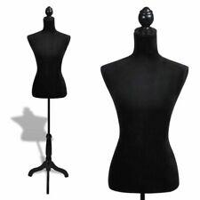 vidaXL Mannequin-Buste Silhouette de Dames - Velour/Noir (30028)