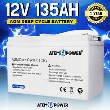 135AH AGM Battery 12V AMP Lead Acid SLA Deep Cycle Battery Dual Solar Power
