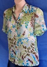 Ladies Floral Shirt Size 16 Millers Polyester Short Sleeve Excellent Condition