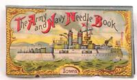 Vintage Needle Case Army Navy Book Iowa Ocean Liner Eagle on Covers Paper
