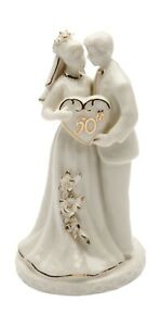 Cosmos Gifts 30715 Ceramic 50th Anniversary Couple Figurine, 4-3/4-Inch