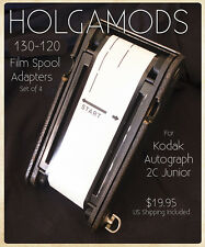 130 to 120 film spool adapters for your Antique Kodak Autographic Folding Camera