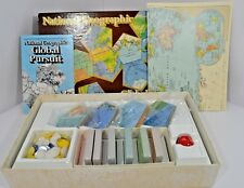 VTG 1987 National Geographic Global Pursuit Board Game Complete World Map
