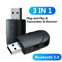 AU_ DI- Bluetooth 5.0 Stereo Audio Transmitter Receiver USB 3.5mm AUX Adapter fo