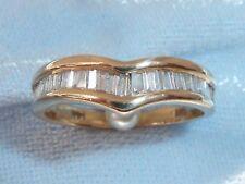 Vintage 14K Yellow Band, 30 Baguette Diamonds, TCW, .75, size 5.25