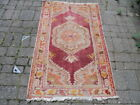 Antique / Vintage Traditional Hand Made  Faded Carpet 160cm X 89cm