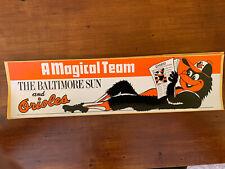 "1983 BALTIMORE ORIOLES World Series BUMPER STICKER ""A MAGICAL TEAM"""
