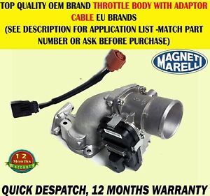 THROTTLE BODY {EGR VALVE} & ADAPTER CABLE FIAT DUCATO 2006>2.3 IVECO DAILY 2.3 D