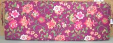 (1) Outdoor Patio Bench Cushion ~ Purple Floral ~ 17 x 46 x 3.25 **NEW**