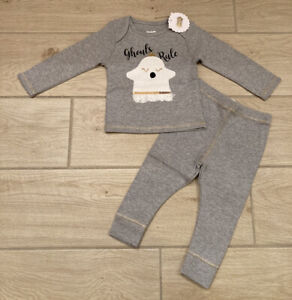 Mud Pie Halloween Baby Girl Ghouls Rule Two-Piece Set NEW 6-9, 9-12, and 3-6