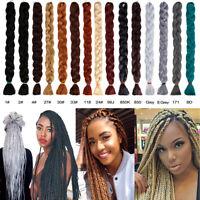 "Long 41"" Kanekalon Synthetic Twist Braids Jumbo Braiding Crochet Hair Extensions"