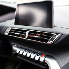 3*ABS Interior Front Central Dashboard Air Vent Trim For Peugeot 3008 GT 2017