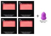 Revlon Powder Blush, 008 Racy Rose, 0.17 oz (4 Pack) + Makeup Sponge