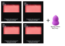Revlon Powder Blush, 008 Racy Rose, 0.17 oz (4 Pack) + Makeup Sponge