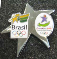 Singapore 2010 Lt Etdn BRAZIL YOG Olympic NOC team pin