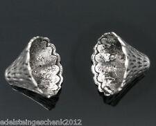 50 Antiksilber Konus Ende Kappen für12-22mm Beads12x9mm