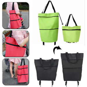 1PC Folding Grocery Large Capacity With wheels Shopping Bags Storage Bag